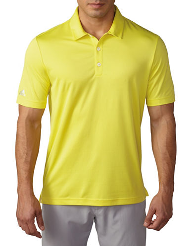 Adidas Climachill Solid Jersey Polo-YELLOW-Small 88332610_YELLOW_Small