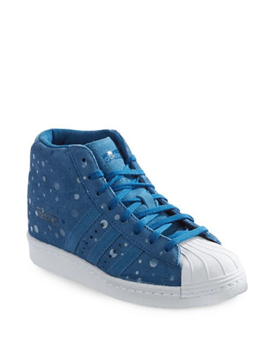 Adidas Superstar Lace-Up Shoes-BLUE-6.5 87873631_BLUE_6.5