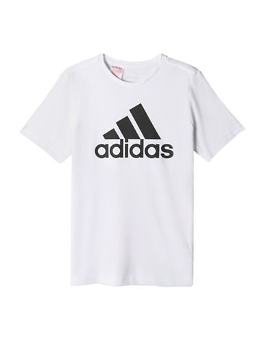 Adidas Essential Logo T-Shirt-WHITE-Small 88511299_WHITE_Small