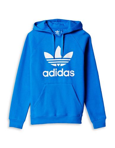 Adidas Originals Trefoil Print Hoodie-BLUE-Medium 88424242_BLUE_Medium
