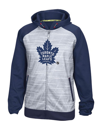 Reebok Toronto Maple Leafs TNT Full-Zip Jacket-DARK BLUE-Small