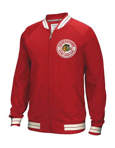 Reebok Chicago Blackhawks CCM Full-Zip Jacket-RED-Large