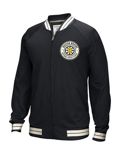 Reebok Boston Bruins CCM Full-Zip Jacket-BLACK-Small