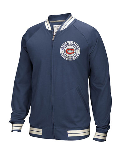 Reebok Montreal Canadiens CCM Full-Zip Jacket-TRUE NAVY-Medium