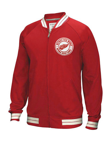 Reebok Detroit Red Wings CCM Full-Zip Jacket-RED-Large
