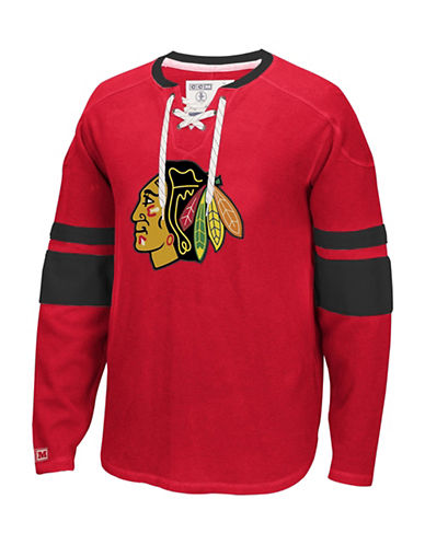 Reebok Chicago Blackhawks CCM Jersey-RED-Medium