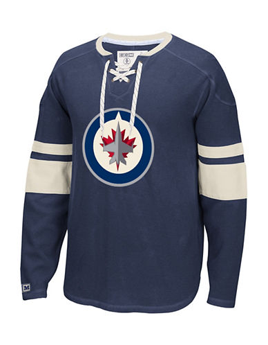 Reebok Winnipeg Jets CCM Jersey-TRUE NAVY-Medium
