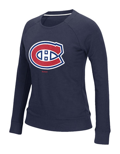 Reebok Montreal Canadiens Gel Pattern T-Shirt-DARK NAVY-Small