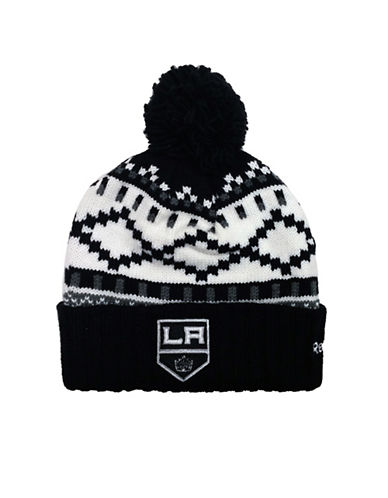 Reebok Los Angeles Kings Pom-Pom Toque-BLACK-One Size