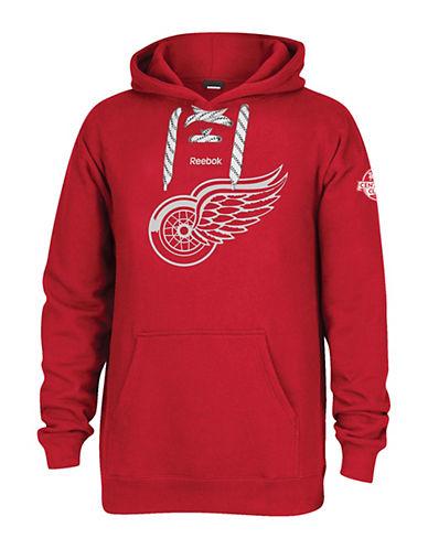 Reebok Detroit Red Wings Centennial Crest Pullover Hoodie-RED-Medium 90042172_RED_Medium