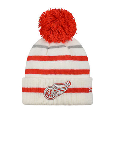 Reebok NHL Detroit Red Wings Centennial Classic Cuffed Pom Knit Tuque-RED-One Size
