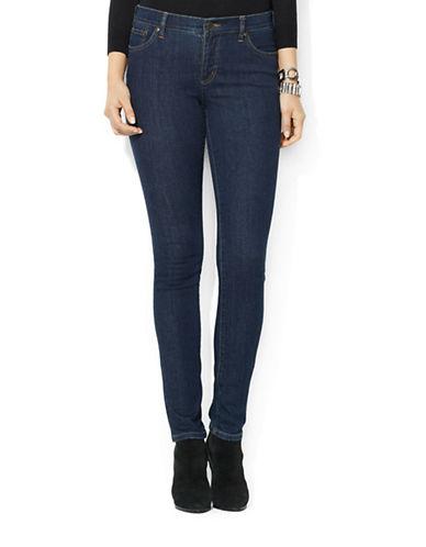 Lauren Ralph Lauren Petite Super Stretch Slimming Modern Skinny Jeans, 29 Inch Leg-BLUE-Petite 12