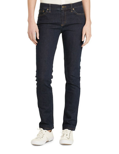 Lauren Ralph Lauren Petite Slimming Modern Curvy Jeans-BLUE-Petite 10