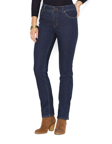 Lauren Ralph Lauren Super Stretch Slimming Heritage Straight Jean-RINSE-2