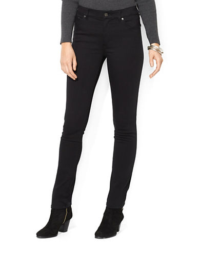 Lauren Ralph Lauren Super Stretch Slimming Heritage Straight Jean-BLACK-12