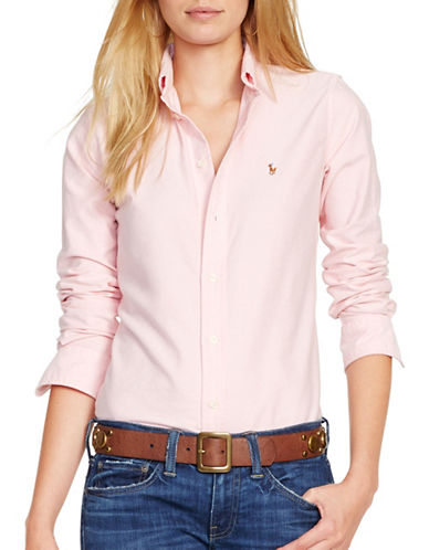 Polo Ralph Lauren Custom Fit Oxford Shirt-PINK-Large