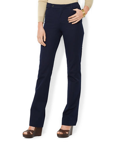 Lauren Ralph Lauren Stretch Twill Slimming Straight Pants-BLUE-4