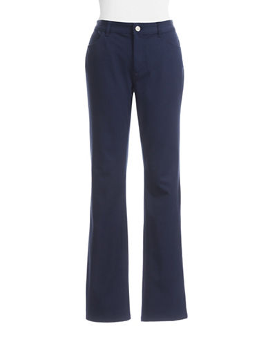 Chaps Slimming Pants-BLUE-14