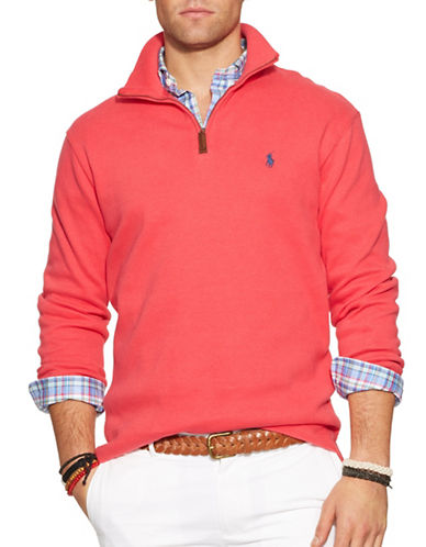 Polo Ralph Lauren FrenchRib Mockneck Pullover-RED-XX-Large 87235977_RED_XX-Large