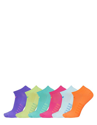 New Balance Six-Pack No Show Ped Socks Set-ASSORTED-One Size