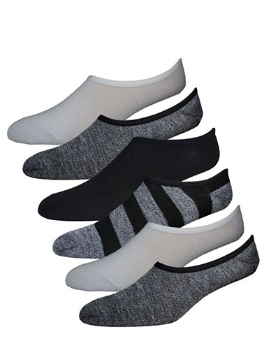 New Balance Three-Pack No Show Sport Socks-BLACK-10-12
