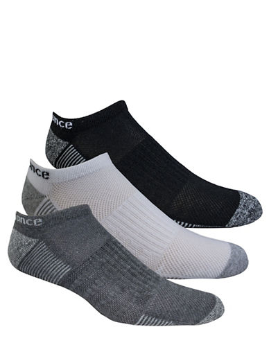 New Balance Patterned No Show Socks-ASSORTED-10-12