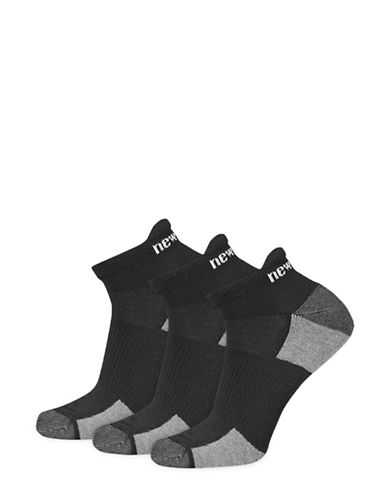 New Balance Six-Pack Perform Training Tab Sport Socks Set-BLACK-10-12