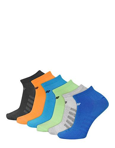New Balance Six-Pack Active Element No Show Socks Set-GREY/MULTI-COLOURED-10-12
