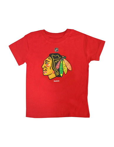 Reebok Chicago Blackhawks Child Primary Logo Tee-RED-Large