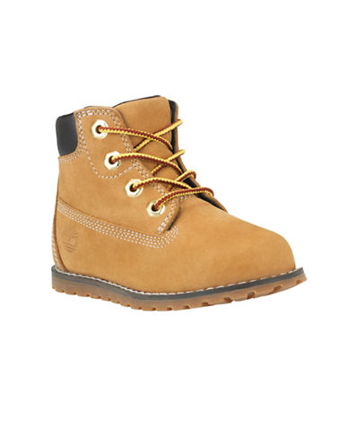 Timberland Pokey Pine Waterproof Leather Boots-BEIGE-12