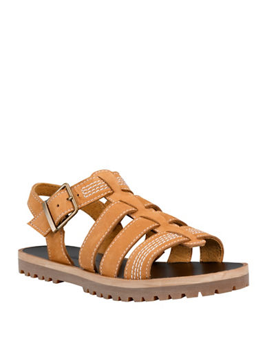Timberland Leather Fisherman Sandals-BROWN-8