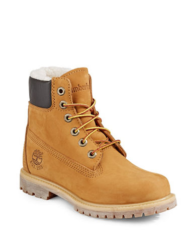 Timberland Fleece Lined Classic Boots-WHEAT-9