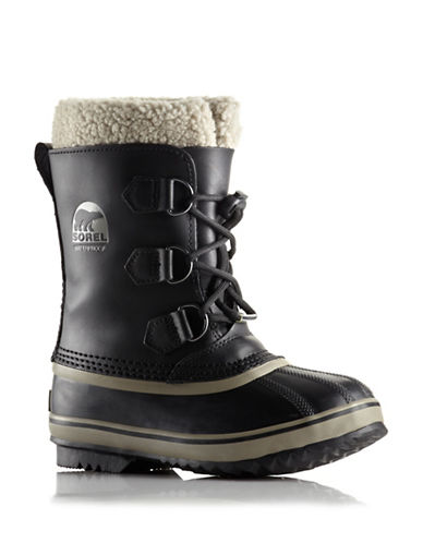 Sorel Yoot Pac Leather Winter Boots-BLACK-4