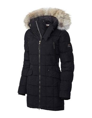 Sorel Conquest Carly Coyote Fur-Trim Parka-BLACK-Small 88551964_BLACK_Small