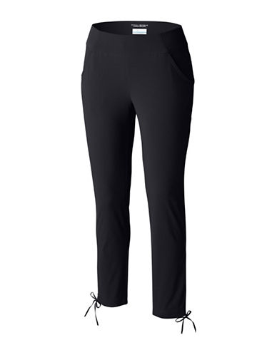 Columbia Anytime Casual Mid-Rise Ankle Pants-BLACK-X-Large