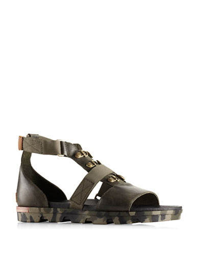 Sorel Torpeda Carly Flat Sandal-BLACK-7.5