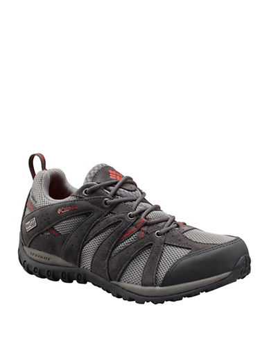 Columbia Grand Canyon Mid Outdry Hiking Shoes-GREY RED-6 88191795_GREY RED_6