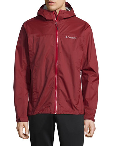 Columbia Hooded Jacket-RED-X-Large