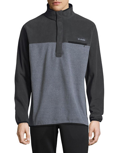 Columbia Quarter-Snap Colourblock Pullover-GREY-X-Large