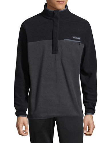Columbia Quarter-Snap Colourblock Pullover-BLACK-XX-Large