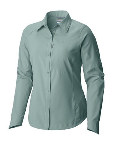 Columbia Silver Ridge Long-Sleeve Button-Down Shirt-DUSTY GREEN-X-Large