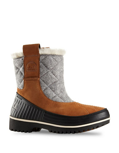 Sorel Tivoli II Suede Pull-On Boots-BROWN-6.5