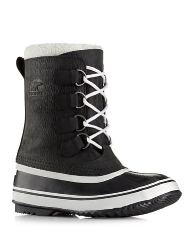 Sorel 1964 PAC 2 Waterproof Leather Boots-BLACK-7.5