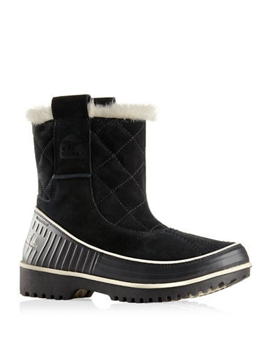 Sorel Tivoli II Suede Pull-On Boots-BLACK-7.5