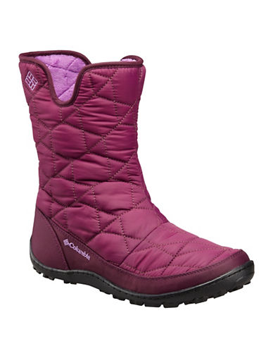 Columbia Minx Slip II Omni-Heat Waterproof Boots-RED-7.5