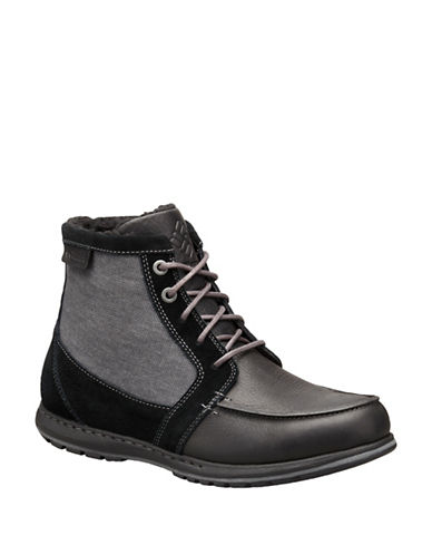 Columbia Davenport PDX Waterproof Leather Omni-Heat Chukka Boots-BLACK-9