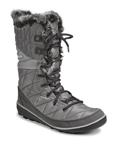 Columbia Heavenly Lace-Up Boots-GREY-5