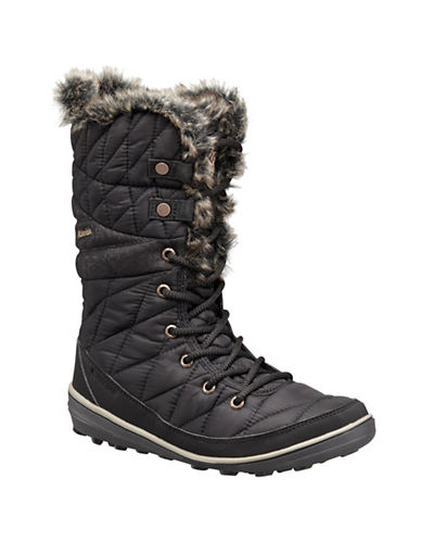 Columbia Heavenly Omni-Heat Faux-Fur Lined Boots-BLACK-8.5