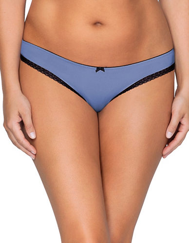 Parfait So Lovely Low-Rise Thong-BLUE-Large
