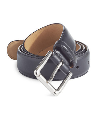 Cole Haan Five-Notch Leather Belt-BLACK-42